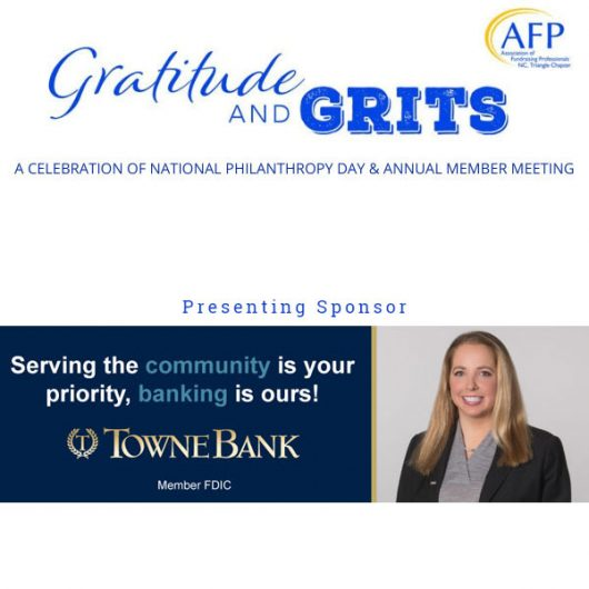 Gratitude and Grits 2021, sponsored by TowneBank